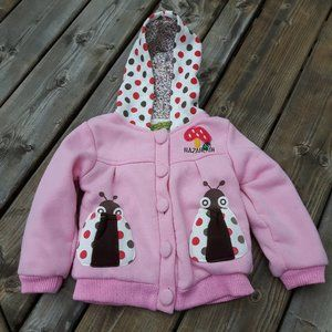Very Cute Lady Bug Coat Little Girl's size Large
